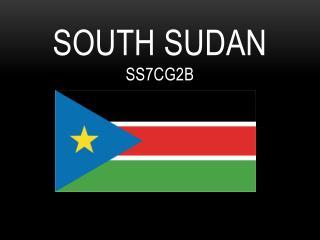 South Sudan SS7CG2B