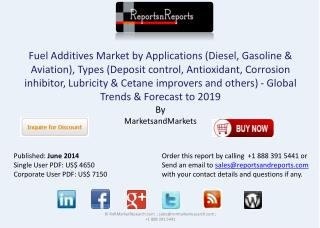Fuel Additives Industry - Global Trend & Forecast to 2019