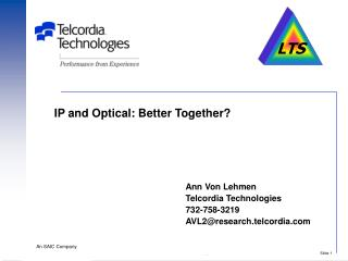 IP and Optical: Better Together?