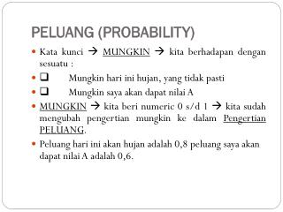 PELUANG (PROBABILITY)