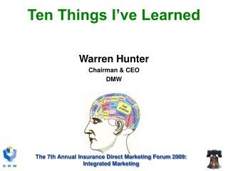 Ten Things I've Learned
