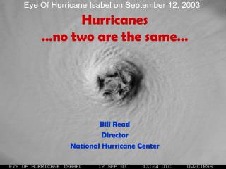 Hurricanes …no two are the same…
