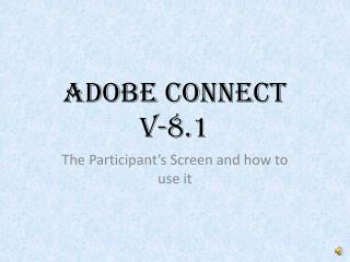 Adobe Connect  V-8.1