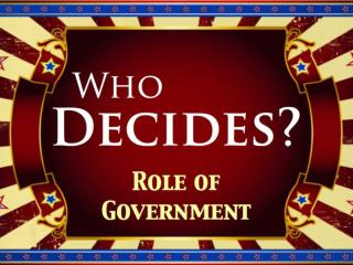 Who Decides Role of Government Copy