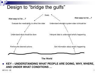 "Design to ""bridge the gulfs"""