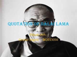 QUOTATION of DALAI LAMA