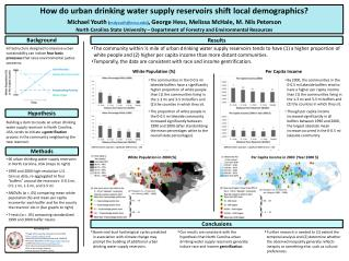 How do urban drinking water supply reservoirs shift local demographics?