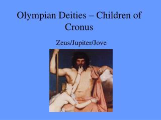 Olympian Deities – Children of Cronus