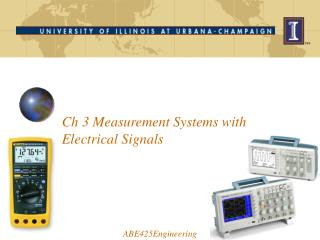 Ch 3 Measurement Systems with Electrical Signals