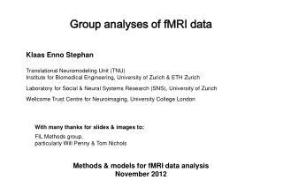 Group analyses of fMRI data