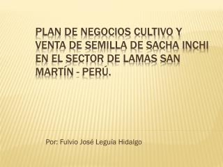 Por: Fulvio Jos� Legu�a Hidalgo