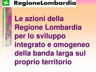 La situazione lombarda Milano: una grande citt� cablata