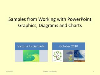 Samples from Working with PowerPoint Graphics, Diagrams and Charts