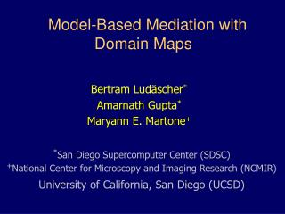 Model-Based Mediation with Domain Maps