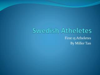 Swedish  Atheletes