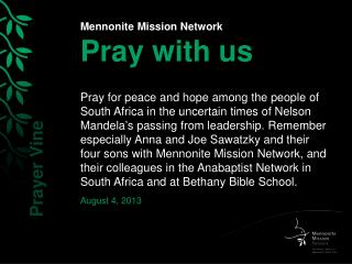 Mennonite Mission Network Pray with us