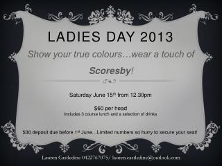 Ladies day 2013