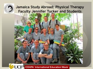 Jamaica Study Abroad: Physical Therapy Faculty Jennifer Tucker and Students