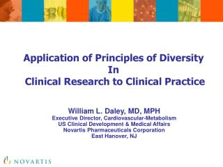 Application of Principles of Diversity  In  Clinical Research to Clinical Practice