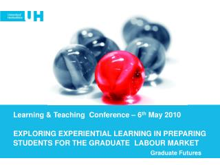 Learning & Teaching  Conference � 6 th  May 2010 EXPLORING EXPERIENTIAL LEARNING IN PREPARING