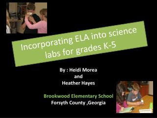 Incorporating ELA into science labs for grades K-5