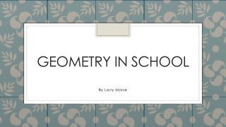 Geometry in school