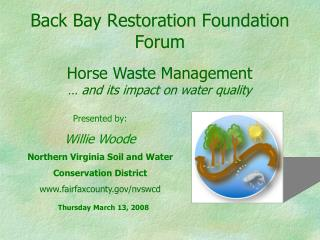 Back Bay Restoration Foundation Forum