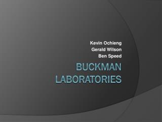 Buckman  Laboratories
