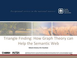 Triangle Finding: How Graph Theory can Help the Semantic Web
