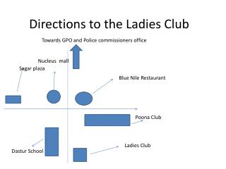 Directions to the Ladies Club