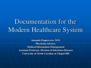 Documentation for the  Modern Healthcare System