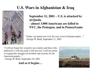 U.S. Wars in Afghanistan & Iraq