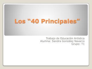 """Los """"40 Principales"""""""