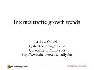 Internet traffic growth trends