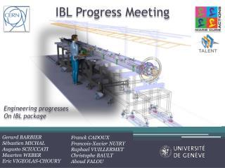 IBL  Progress  Meeting