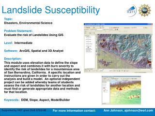 Landslide Susceptibility