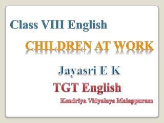Class VIII English
