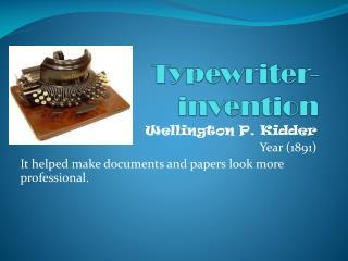 Typewriter-invention