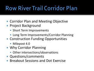 Row River Trail Corridor Plan