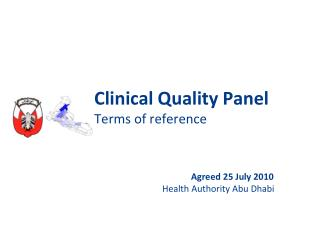Clinical Quality  Panel Terms of reference