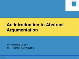 An Introduction to Abstract Argumentation