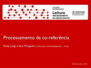 Processamento da co-referência