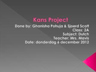 Kans Project