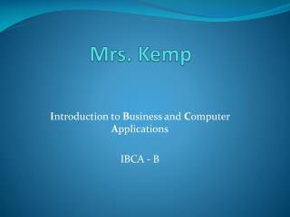 Mrs. Kemp