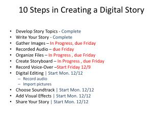 10 Steps in Creating a Digital Story