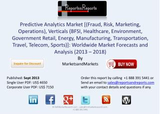 Predictive Analytics Industry - Global Forecasts and Analysi