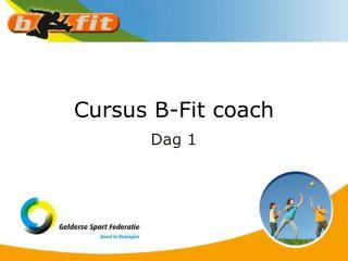 Cursus B-Fit coach