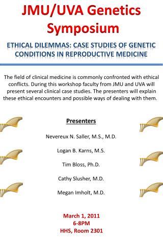 JMU/UVA Genetics  Symposium