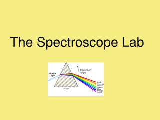 The Spectroscope Lab