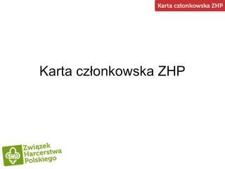 Karta członkowska ZHP